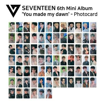 SEVENTEEN : 6th Mini Album - You Made My Dawn Official Photocard