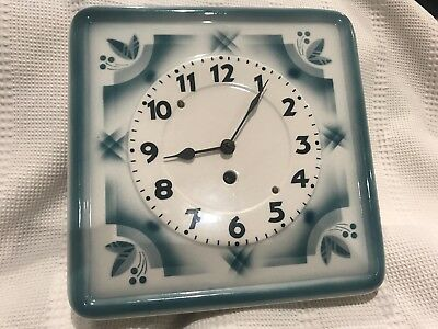 RARE & Beautiful HAMBURG WALL CLOCK ON PORCELAIN made in GERMANY.