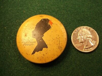 """#2 of 3, NICE OLD VTG TIN COMPACT """"ARMAND COLD CREAM POWDER"""" PURSE SIZE PACKAGE"""