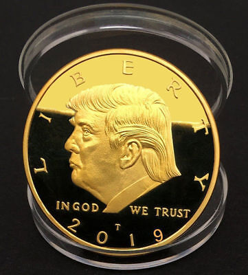 2019 President Donald Trump 24k Gold Plated EAGLE Commemorative Coin