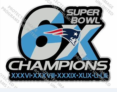 Super Bowl 53 Liii Patriots Lapel Pin 6X Champion Superbowl Champs Patch Style