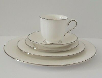 5 Piece Place Setting Hannah Platinum Bone China by -LENOX NEW with Tags