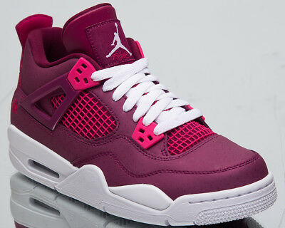 "Air Jordan 4 Retro GS ""Valentine's Day"" New True Berry Shoes In Hand 487724-661"
