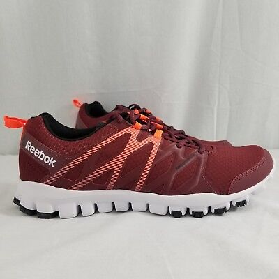 d304a86eb73e Reebok Realflex Train 4.0 Running Low Men Shoes Red/Orange Ar3045 Size 12  New