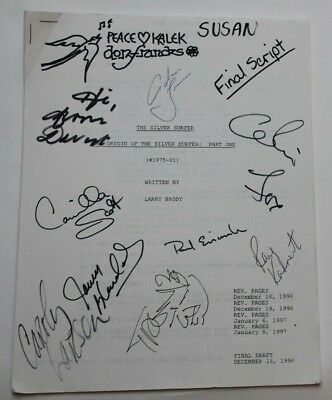 The Origin of the Silver Surfer: Part 1 / 1997 TV Script REAL AUTOGRAPHS BY CAST