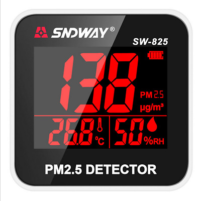 SNDWAY SW-825 PM 2.5 Detector and Temperature and Humidity meter screen