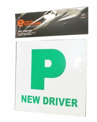 Halfords 3X Fully Magnetic New Driver Plates Stickers (Just Passed)
