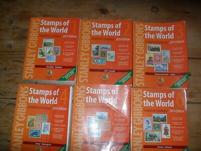 Stanley Gibbons Stamps Of The World 6 Volume Simplified Stamp Catalogue 2014