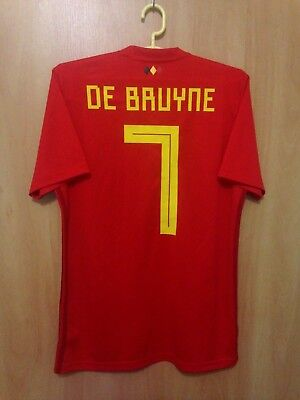 Belgium National Team 2017 2018 Home Football Shirt Jersey Kevin De Bruyne   7 4a531df81