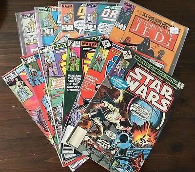 Star Wars Vintage comic lot Marvel Droids Rotj 5 17 27 30 38 58 2 3 8