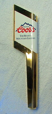 "NEW 1992 ORIGINAL COORS ""The Rocky Mountain Legend"" Beer Tap Handle 10"" long"