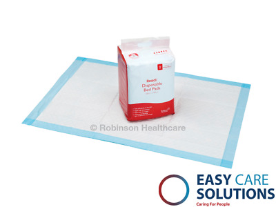 New Readi Disposable Incontinence Bed Pads 60 x 90cm 1700ml Absorbency Pk of 25