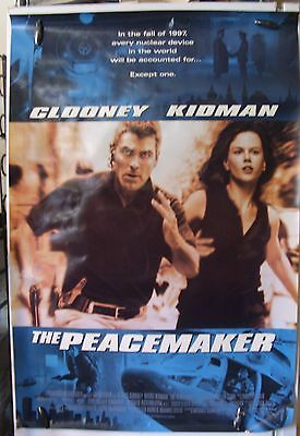 """The Peacemaker - 27""""x40"""" 2 Sided ORIGINAL Movie Poster - Clooney, Kidman"""