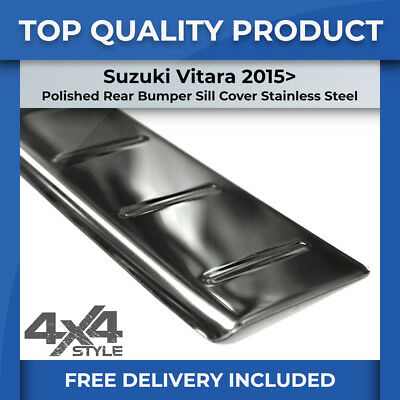 Suzuki Vitara 2015> Polished Chrome Rear Bumper Sill Cover Stainless Protector