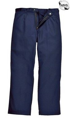 PORTWEST Bizweld Trousers - Navy - Small (Tall) - BZ30NATS  Next working day to