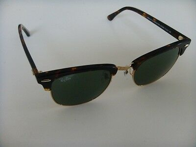 Ray Ban Clubmaster Sunglasses 3016 W0366 tortoise with gold and Green Lens  51 mm 594335ec7e