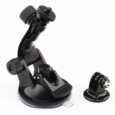 Car Windshield Vacuum Suction Cup Mount & Tripod Adapter Fits GoPro Hero 5 4 3+
