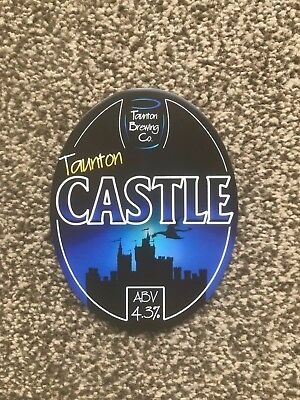 Taunton Brewing Co Castle Beer Pump Clip Breweriana Brand New Free Fast P+P
