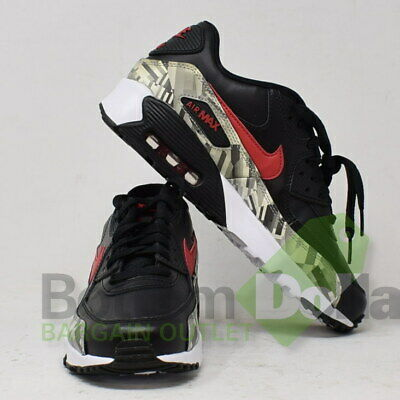 NIKE BIG KIDS Air Max 90 Leather Running Shoes BlackBlack