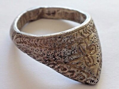 Beautiful Ancient Byzantine Silver Archers Ring   13,46gr/ 38,5mm / 29mm    1176
