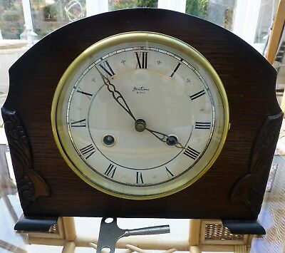 Bentima  8 day Mantel Clock striking half & hour great time keeper