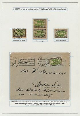 Estonia. 1922. 15 M. Vikingship. Page from EXHIBITION COLLECTION