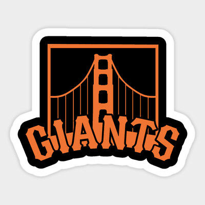 San Francisco Giants vinyl sticker for skateboard luggage laptop tumblers car