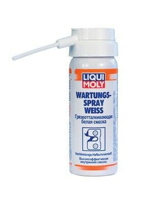 LIQUI MOLY Wartungs-Spray weiss Dirt-repellent white grease 50ml