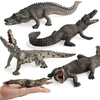 Crocodile Simulation Animal Model Action & Toy Figures Collection Kids Gift Fq