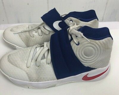 6c64467de Nike KYRIE 2 SNEAKER Shoes size 5.5Y Youth Boys Olympic Red White Blue