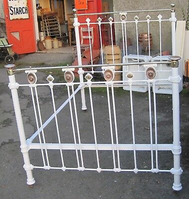 Antique Bed. Victorian Brass and Iron.