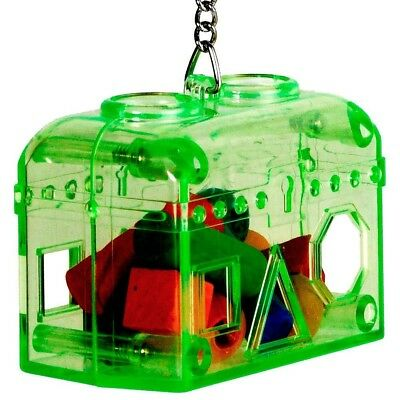Treasure Hunt Parrot Foraging Toy Prefilled with Coloured Wood Shapes - NTO