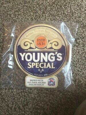 Young's Special Beer Pump Clip Breweriana Brand New Free Fast P+P