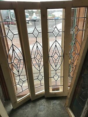 Sg 2787 4 Av Price Each antique beveled and leaded glass windows 12.75 x 46.75