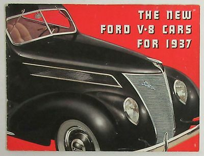 The New Ford V-8 Cars For 1937 Brochure