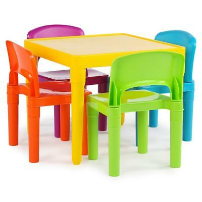 Terrific New Kids 5 Piece Folding Table Chair Set Children Multicolor Forskolin Free Trial Chair Design Images Forskolin Free Trialorg