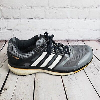 save off a84b9 2e629 Mens Adidas Supernova Glide Boost Running Shoes Grey Sneakers Size 9.5