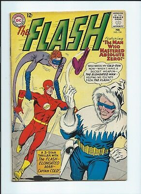 The Flash #134 VG+ (February 1963, DC) Captain Cold Appearance
