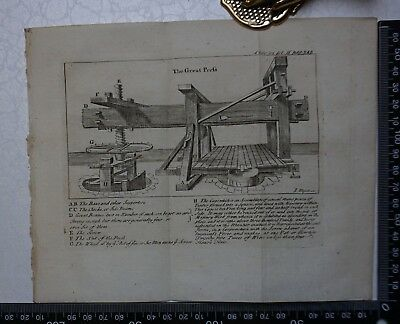 1776 - The Great Wine Press  Engraving, Pluche, Spectacle of Nature