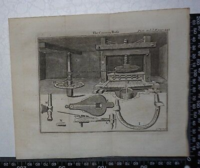 1776 - The Common Wine Press  Engraving, Pluche, Spectacle of Nature