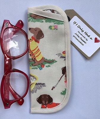 17daed3048d3 Cath Kidston Sausage Dogs Oilcloth Reading Glasses/children's SpecsCase  Handmade