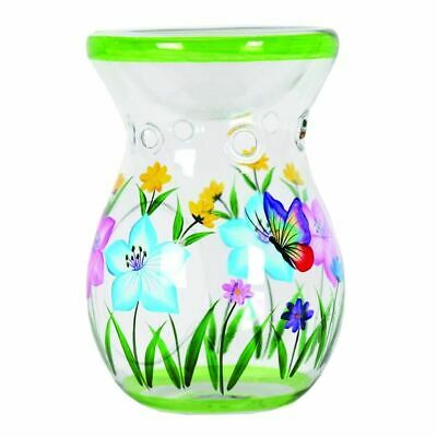 Aromatize Wax Melt Burner -Yankee Candle Melts - Butterfly Hand Painted 14cm