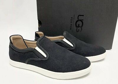 5e420e92a78 UGG AUSTRALIA MATEO Canvas Slip On Sneakers 1019626 Black Fashion Men's  shoes