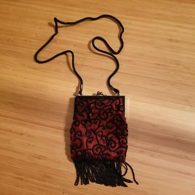 de78a32cf380 SMALL FRINGE CROSSBODY Bag with Wrist Strap Red -  23.75