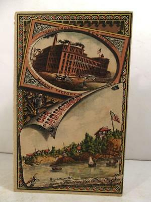 """Vintage Household Sewing Machine Factory """"Our Household"""" Adv. Booklet 5¢ c1882"""