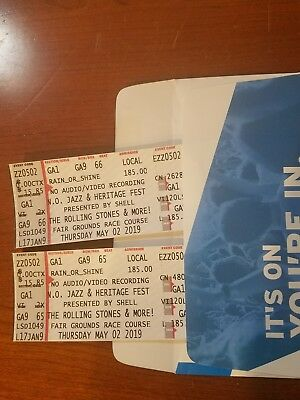 2 TICKETS for Rolling Stones Jazz Fest in New Orleans, LA May 2, 2019