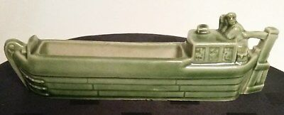 Lovely Green 1950 s Wade  Pottery Canal Boat Narrow Boat Barge