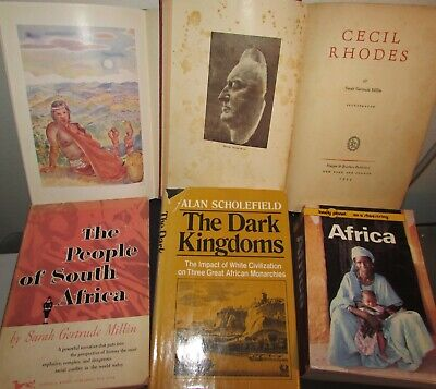 5 nonfiction books AFRICAN KINGDOMS Cecil Rhodes PEOPLE OF SOUTH AFRICA Congo