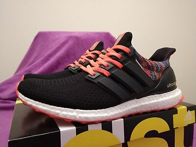 f69db10a7 Mi Adidas Ultraboost 2.0 Rainbow Multicolor Black  Solar Red Men s Shoes Sz  10.5