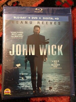 John Wick (Blu-ray/DVD, 2015, 2-Disc Set) No Digital